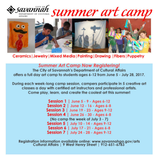 Summer Camps 2017 Art Camp Savannah
