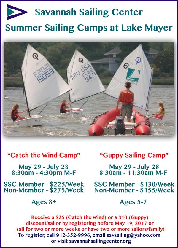 Savannah Summer Camps Sailing Lake Mayer