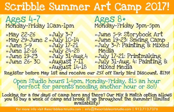 Savannah Summer Camps 2017 Art Savannah Scribble