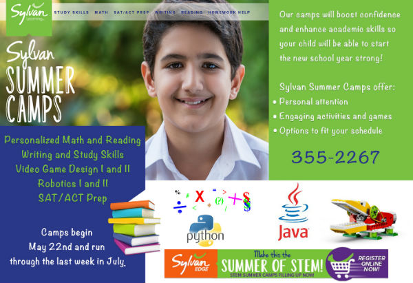 Sylvan coding STEAM STEM summer camps math Savannah