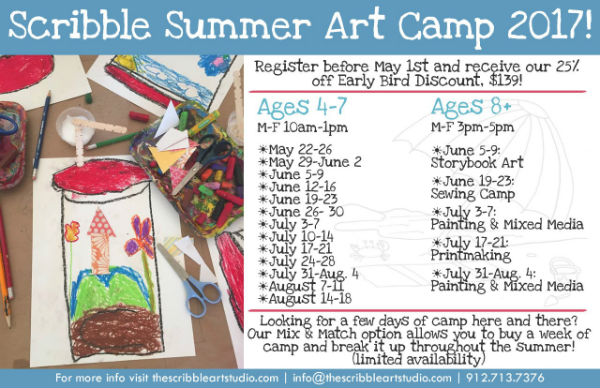 Savannah Summer Camps Scribble Art Studio