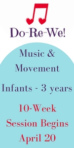 Music Classes for infants, babies, toddlers Savannah Do-Re-We