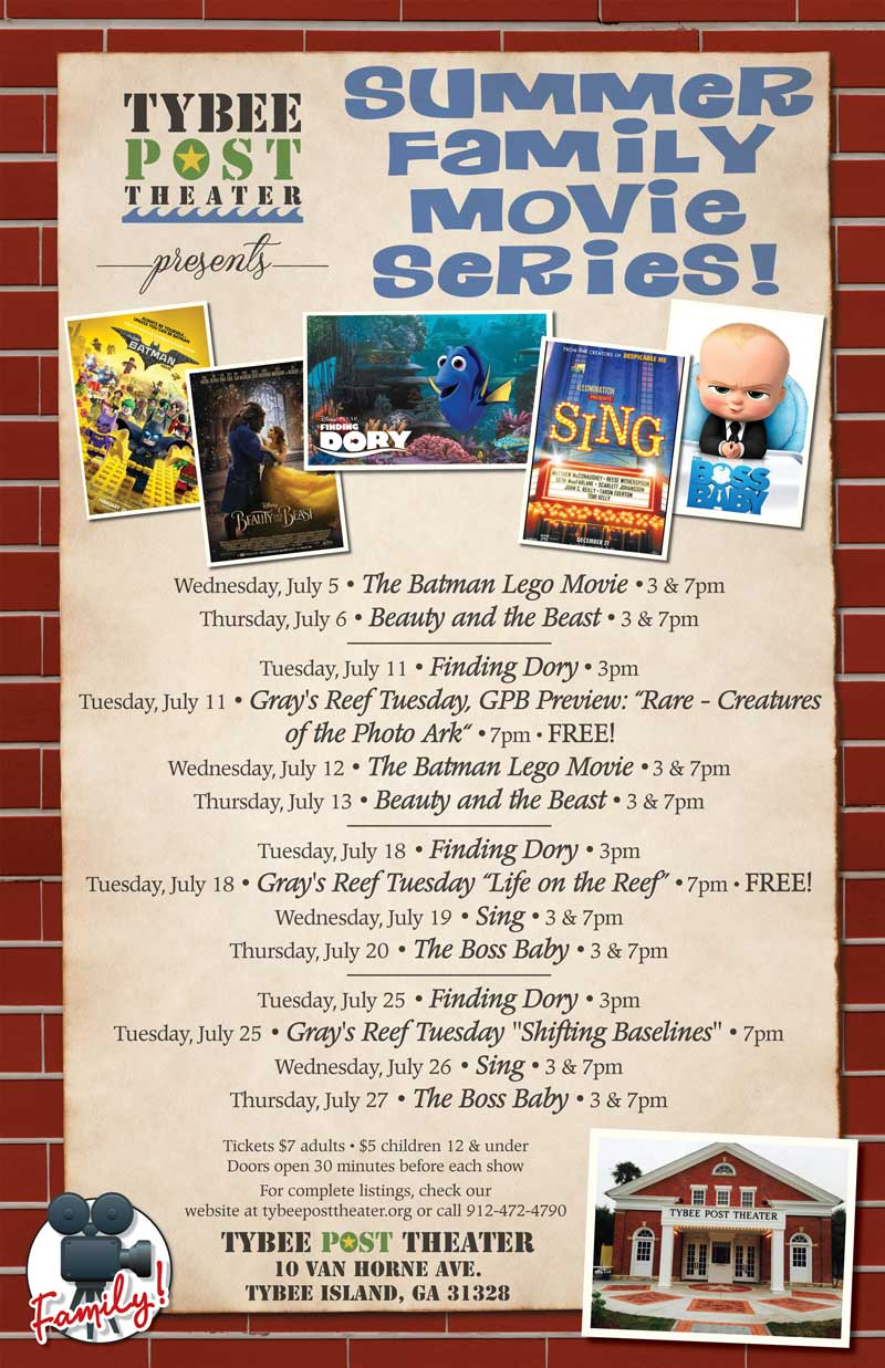 Family Summer Movies Tybee Post Theater