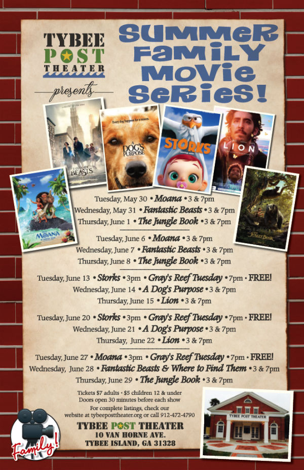Summer Family Movies Tybee Post Theatre