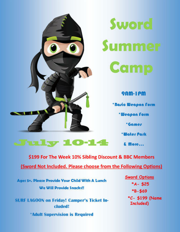 karate summer camp Pooler sword ninja Savannah