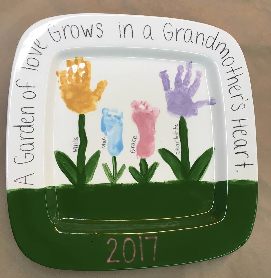 Mother's Day gifts Savannah Starlight Pottery paint-your own 2017