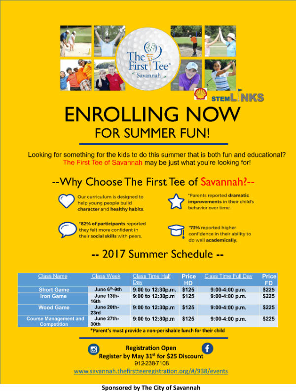 Summer Golf Camp Savannah First Tee 2017
