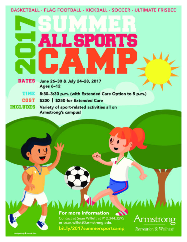 Savannah Summer Camps All Sports Camp Armstrong Savannah 2017