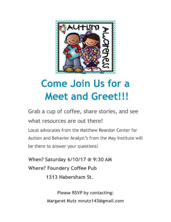 Autism resources in Savannah Matthew Reardon Center Parents