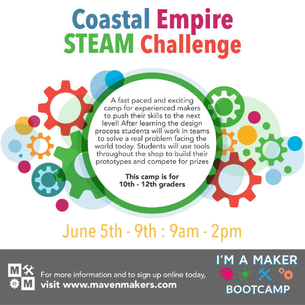 STEAM summer camp Maven Makers Savannah 2017