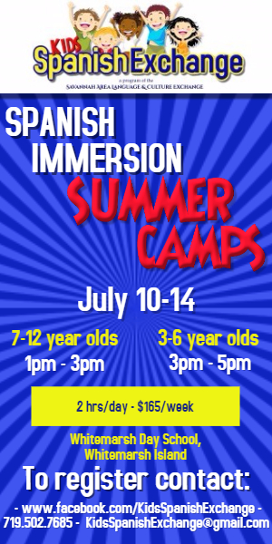 Spanish Immersion summer camps Whitemarsh Island Savannah