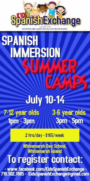 Spanish Immersion summer camps Whitemarsh Island Savannah