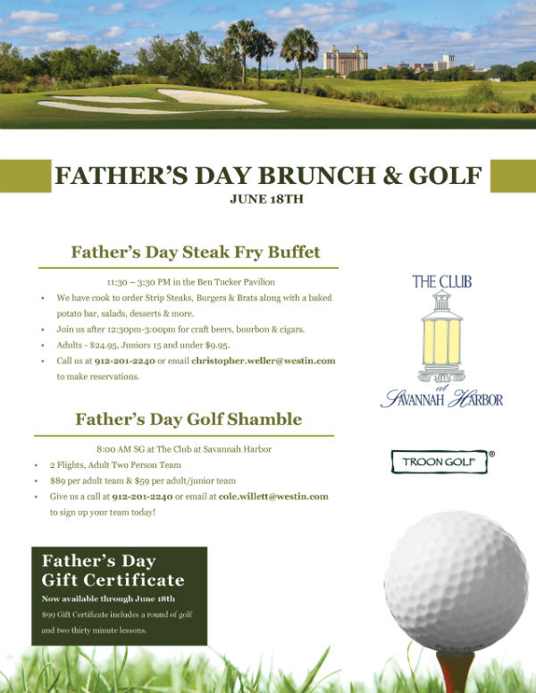 Father's Day Specials Savannah Deals Brunch Golf