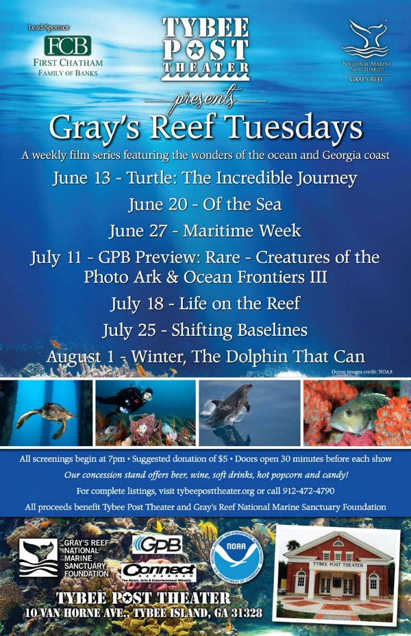 Free Gray's Reef Tuesdays 2017 Tybee