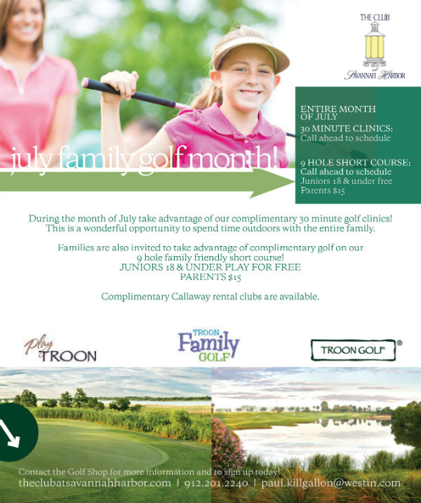 Golf Summer Discounts savannah Club Harbor