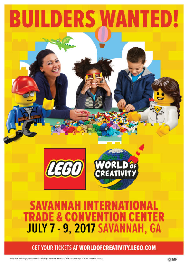 Lego World of Creativity Savannah July 2017