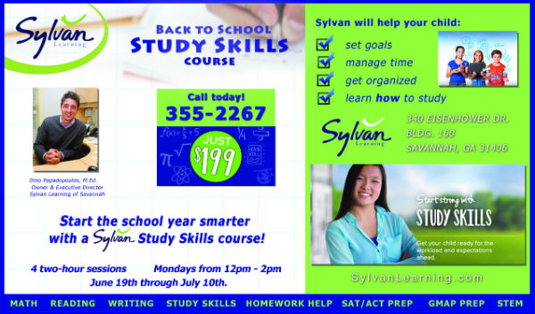 Study Skills Back to School Sylvan Course Savannah