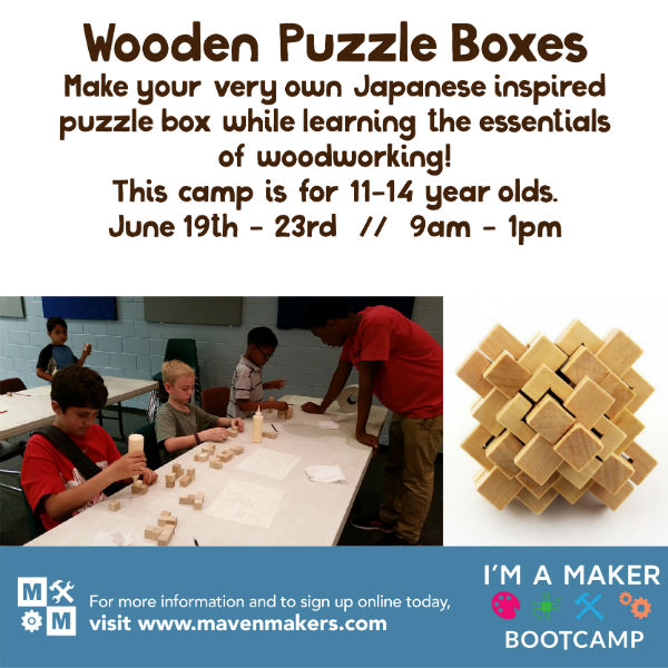 Wooden Puzzle Boxes Maven Makers MakerSpace Savannah