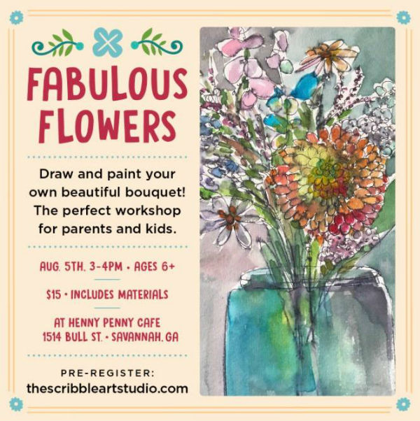 Flower parent & child workshop @ Henny Penny Cafe Savannah