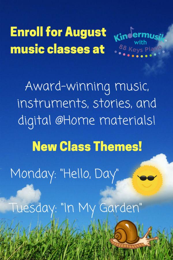 Kindermusik Savannah August 2017 classes parent & me music