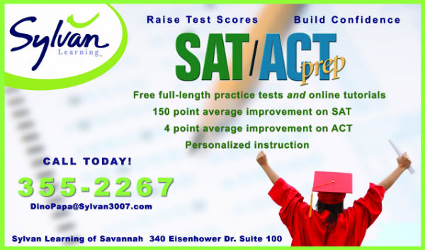 SAT ACT prep Savannah Sylvan Learning tutoring