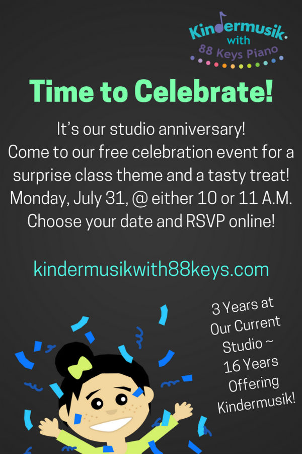 free kindermusik celebration savannah kids children activities events