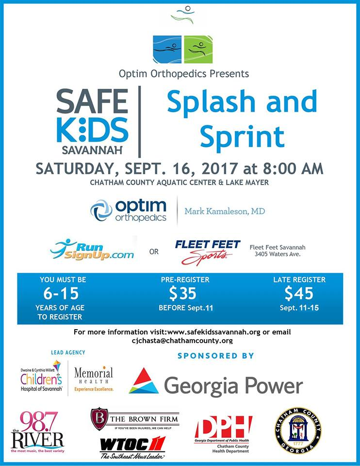 Splash and Sprint kids race in Savannah