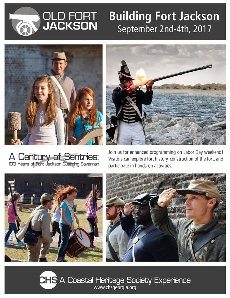 Labor Day weekend events in Savannah Old Fort Jackson