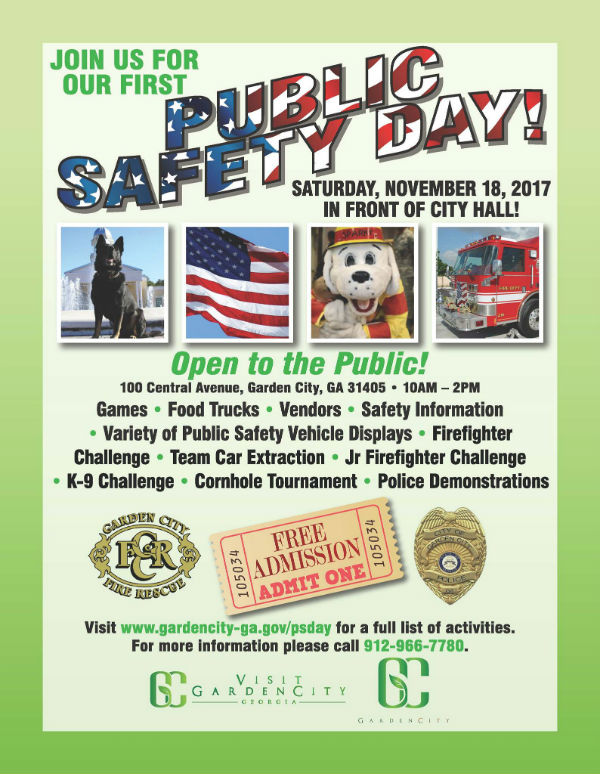 Free Public Safety Day Garden City 2017