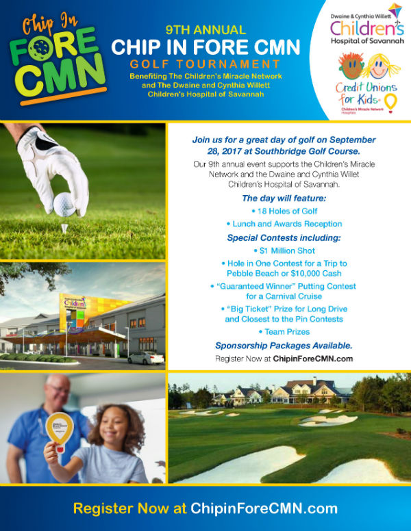 Chip in Fore CMN Children's Miracle Network Savannah 2017