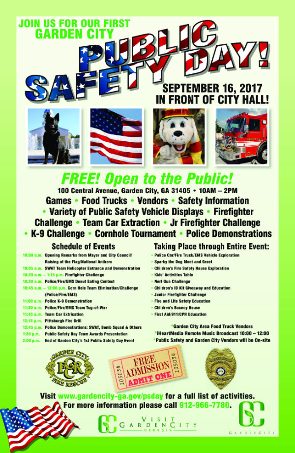Free Public Safety Day Garden City 2017