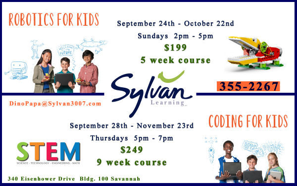 Sylvan STEM Robotics classes Savannah