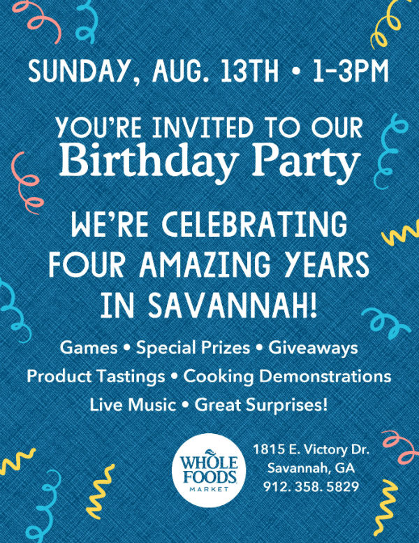 Free Anniversary Party Whole Foods Market