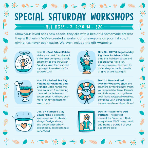 Saturday Art Kids Workshops Savannah Henny Penny Art Space Cafe