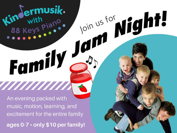 Family Jam Night Kindermusik Savannah $10 per family