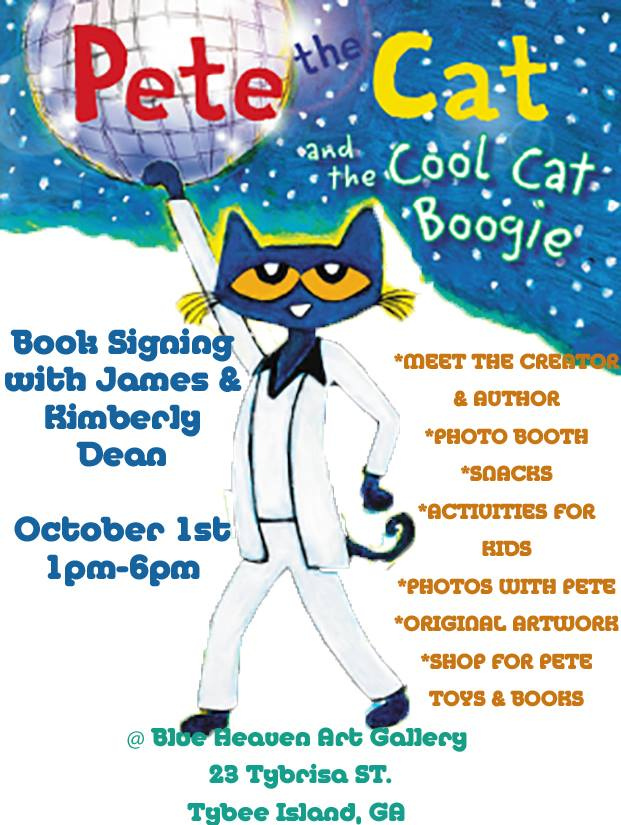 FREE Pete the Cat Book signing, meet author Tybee Island