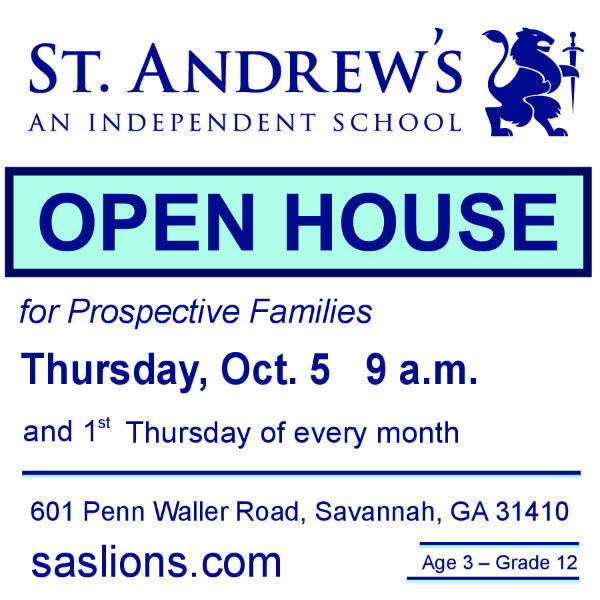 Savannah schools St. Andrews Open House October 2017