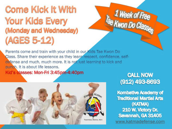 tae kwon do classes for kids Savannah