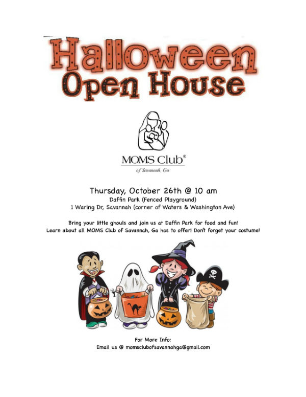 Halloween Open House Moms Club Savannah
