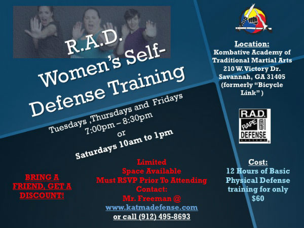 women's self-defense classes Savannah