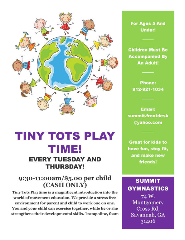 Toddlers things to do in Savannah Summit Gym Tiny Tots Playtime