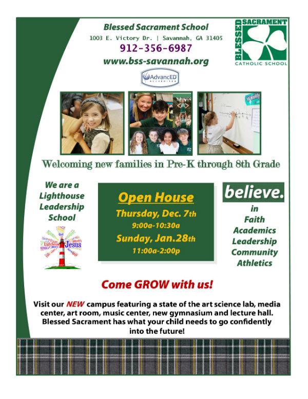 Savannah schools Blessed Sacrament open house