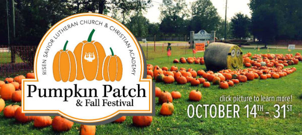 pooler pumpkin patch fall festival risen savior