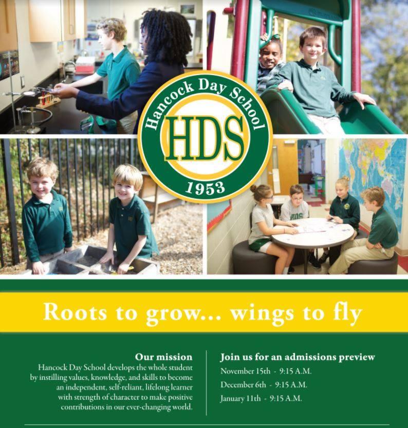 Savannah schools Hancock Day School private pre-K