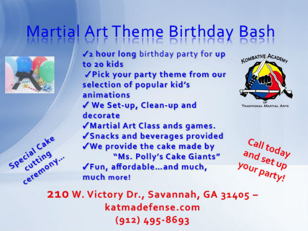 Martial Arts Children's Birthday Parties