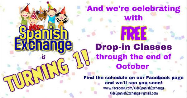 Free Spanish drop-in classes kids Richmond Hill