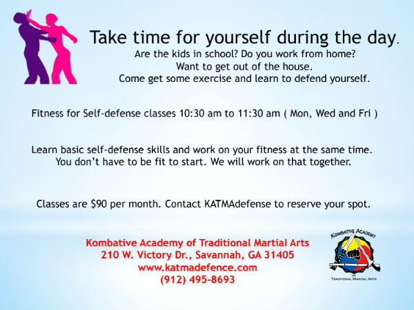Self-defense fitness classes Savannah KATMA