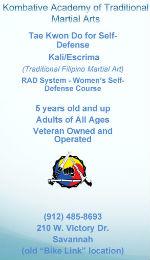Kombative Academy martial arts Savannah karate