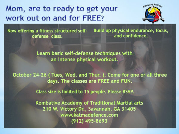 Free martial arts class KATMA Savannah