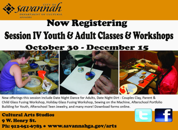 Art Clay Classes Youth Children Savannah Holidays 2017